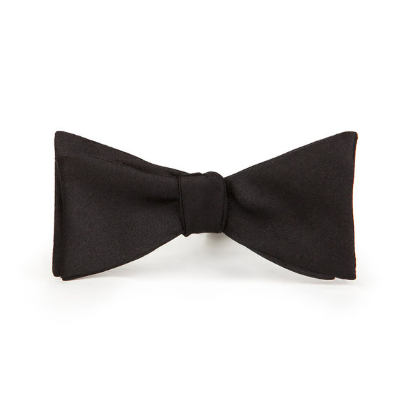 Black Silk Bowtie Fabric produced by  Lanieri