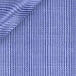 Camicia Blu Pied de Poule Cotone
