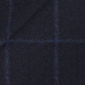 Jacket Blue Overcheck Alpaca