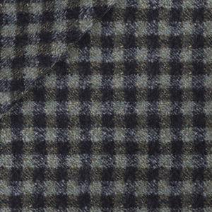 Blazer Grün Karo-Dessin Wolle