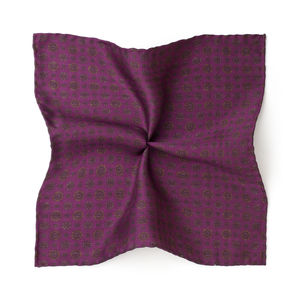 Vintage Bordeaux Silk Pocket square
