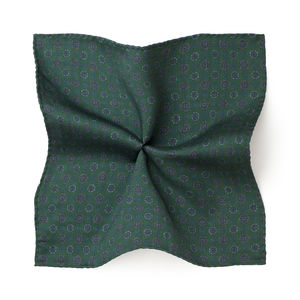 Vintage Green Silk Pocket square