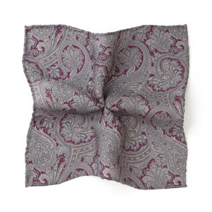 Paisley Bordeaux Pocket square