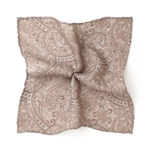 Paisley Beige Pocket square