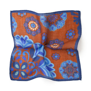 Pocket square Fantasia Orange