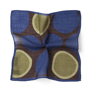 Pocket square Pois Blue