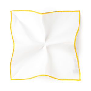 White Giallo Pocket square