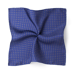 Pocket square Microdesign Blue Silk