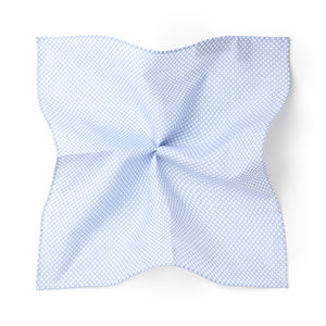 Pocket square Catena Light Blue