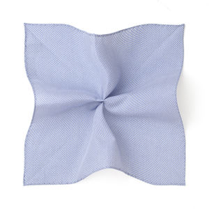 Pocket square Optical Light Blue