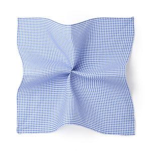 Dots Design Light Blue Pocket square