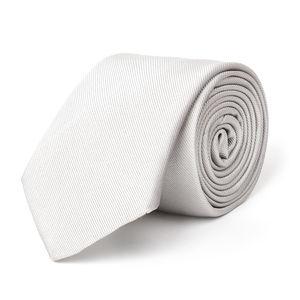 Cravatta Cerimonia Argento Seta