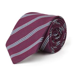 Regimental Bordeaux Necktie