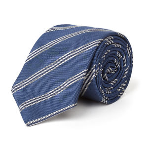 Regimental Blue Necktie