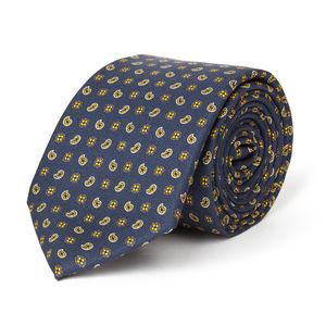 Blue Cashmere Silk Necktie