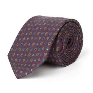Bordeaux Cashmere Silk Necktie