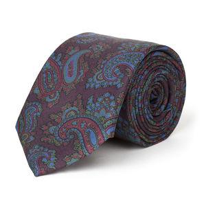 Paisley Bordeaux Silk Necktie