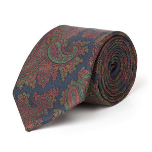 Cravate Paisley Vert Soie