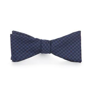 Bowtie Blue Houndstooth Wool