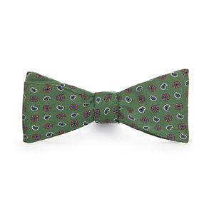 Bowtie Green Cashmere Silk