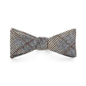 Grey Prince of Wales Wool Bowtie