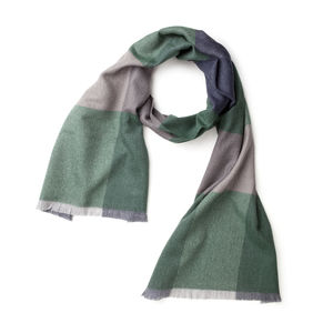 Schal Würfelkaro-Dessin Grün