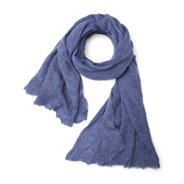 Mélange Cerulean Scarf Fabric produced by  Botto Giuseppe & Figli
