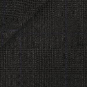 Grey Prince of Wales Wool Silk Suit