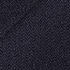 Blue Herringbone Suit Fabric produced by  Vitale Barberis Canonico