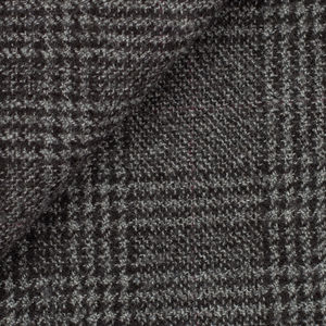 Grey Prince of Wales Wool Coat