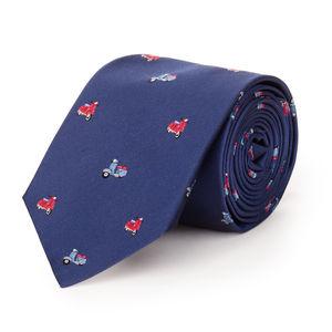 Cravatta Dolce Vita Blu Seta