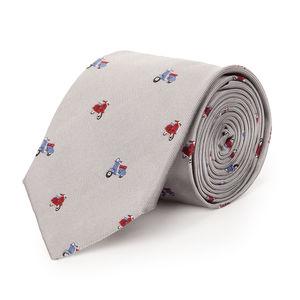 Cravatta Dolce Vita Grigia Seta