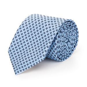 Cravatta Losanga Azzurra Seta