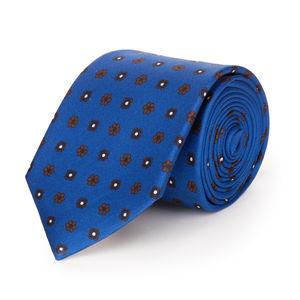 Cravatta Floral Blu Elettrico Seta