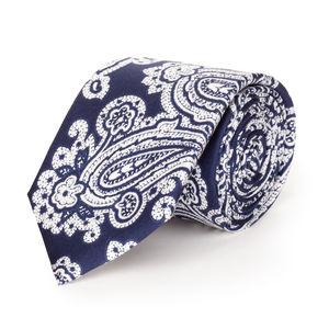Cravatta Paisley Blu Seta
