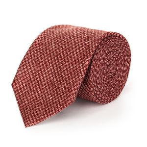 Cravatta Pied de Poule Rosso
