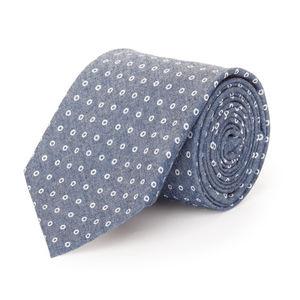 Cravatta Denim Circle Blu