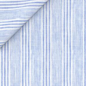 Camicia Puro Lino Azzurra a Righe