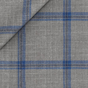 Blazer Linen Silk Grey Check
