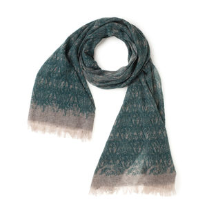 Cashmere Green Design Scarf Fabric produced by  MaAlBi