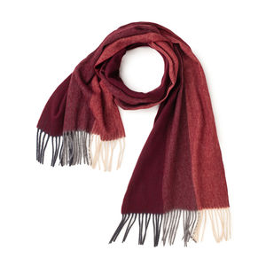 Trio Bordeaux Scarf Fabric produced by  MaAlBi
