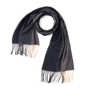 Trio Blue Scarf Fabric produced by  MaAlBi