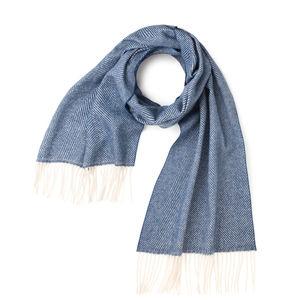 Light Blue Herringbone Scarf Fabric produced by  MaAlBi