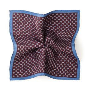 Pochette costume Rome Bordeaux Soie Tissu fabriqué par  Lanieri