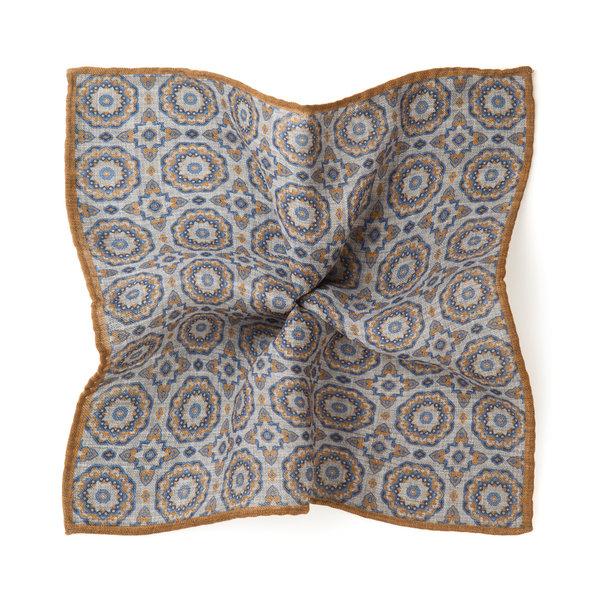 Pochette costume Gênes Jaune Laine Tissu fabriqué par  Lanieri - Made in Italy