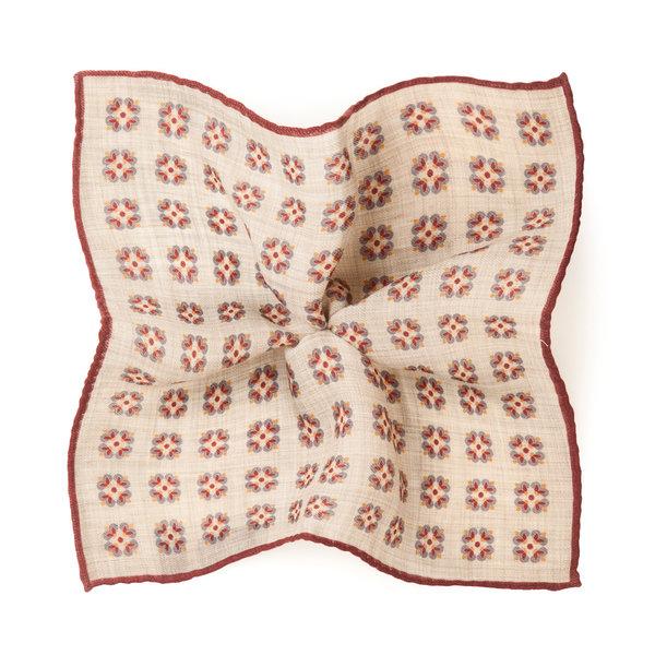 Pochette Torino Rossa Lana Tessuto prodotto da  Lanieri - Made in Italy