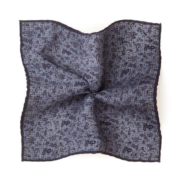 Pochette Double Azzurra Tessuto prodotto da  Lanieri