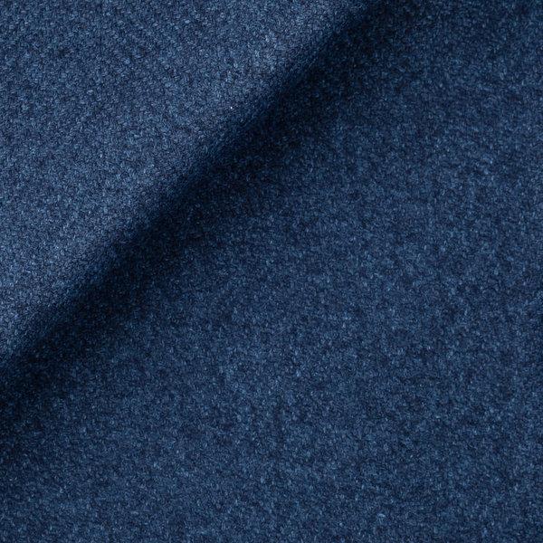 Cappotto Traveller Blu Macro Spigato Tessuto prodotto da  Tessitura di Quaregna