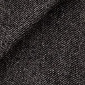 Grey Macro Herringbone Coat Fabric produced by  Tessitura di Quaregna