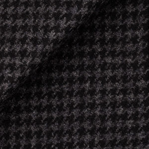 Grey Houndstooth Coat Fabric produced by  Tessitura di Quaregna